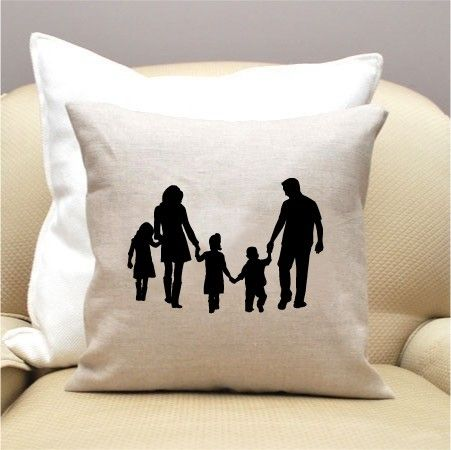 Custom Silhouette Pillow, $50.