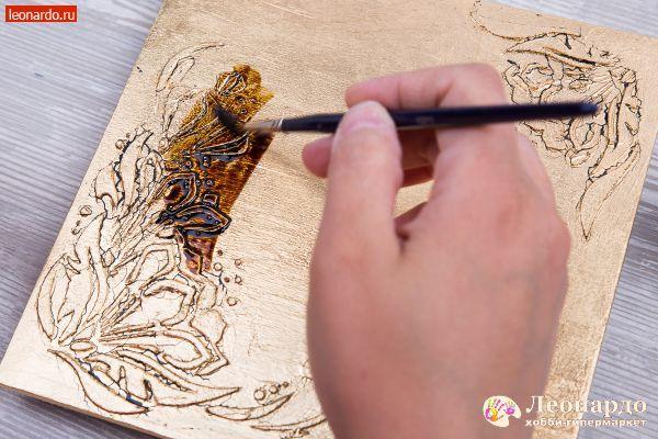 Декупаж «Золотые часы» | Уроки творчества | Леонардо хобби-гипермаркет - сделай своими руками