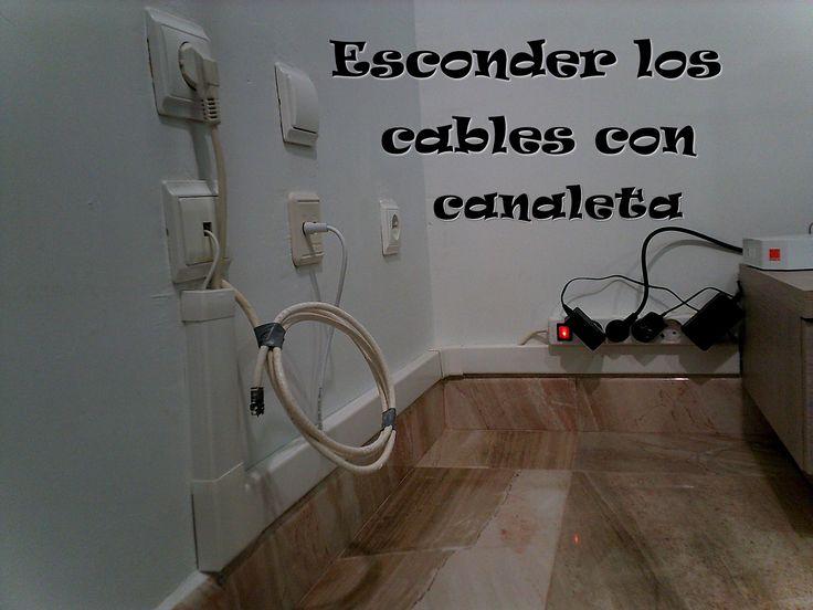 Ocultar los cables con una canaleta / Hide wires with a gutter
