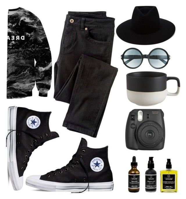 """Coffee addict"" by teodorapetre on Polyvore featuring CB2, rag & bone, Tom Ford, Wrap, Mr. Gugu & Miss Go, Converse and Little Barn Apothecary"