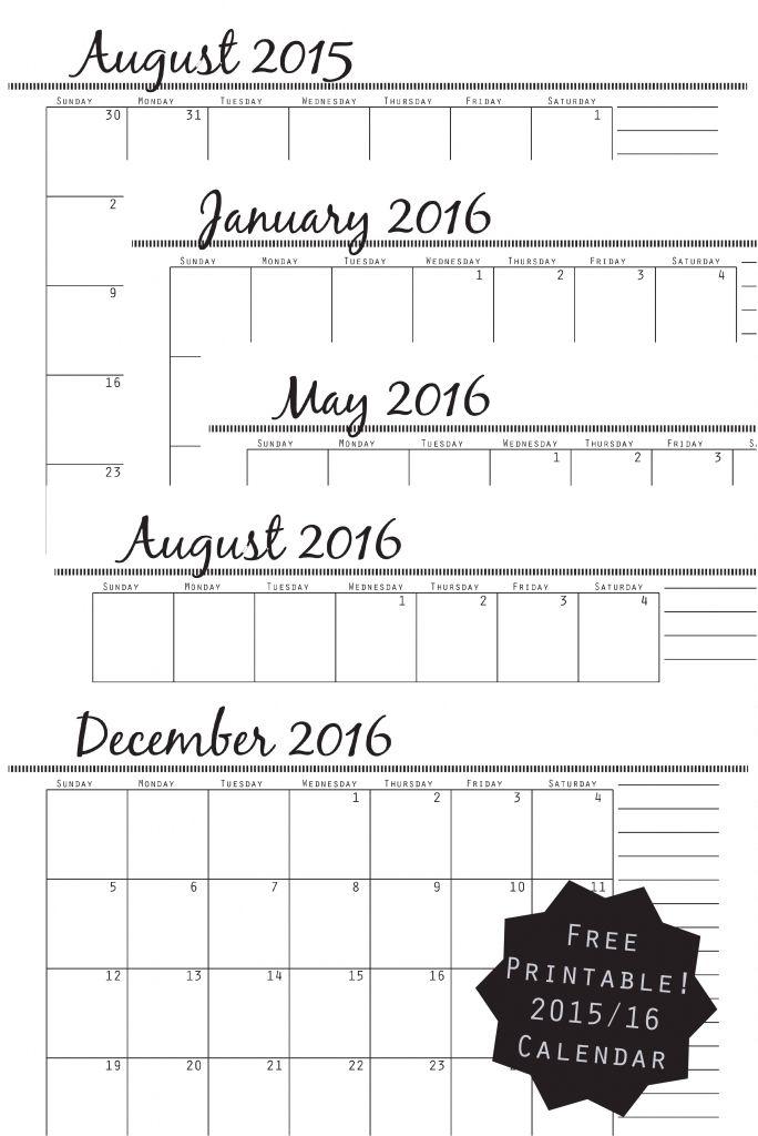 Pinterestu0027teki 25u0027den fazla en iyi Free printable calendar 2016 fikri - free printable calendar