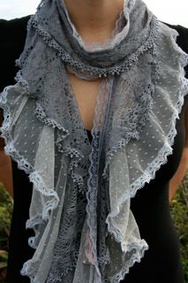think I could make some similar with leftover bits and pieces--could dye it any color--but I do like the grey.