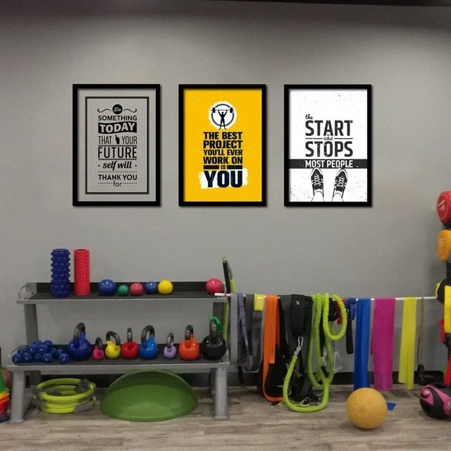 Amazing home gym wall decor with additional home remodel ideas