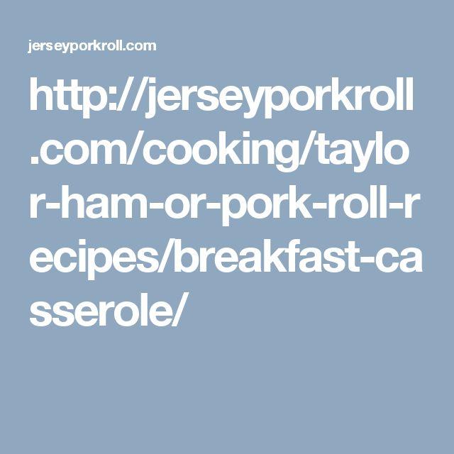 Pork roll breakfast casserole