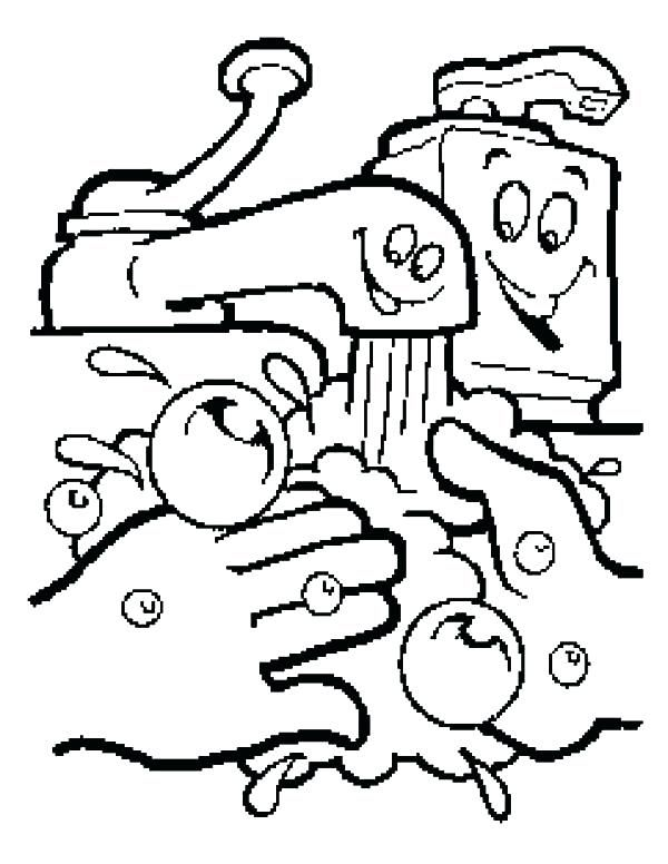 hand washing coloring pages # 5