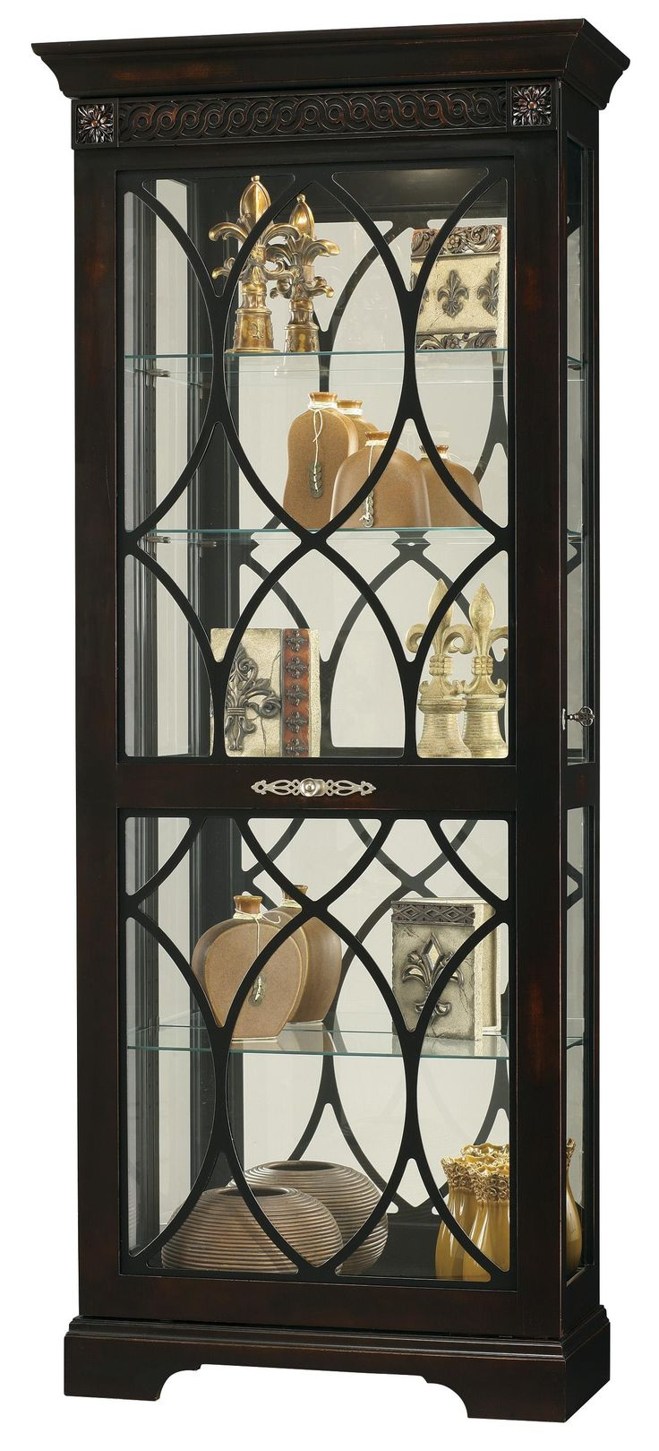 Glass Curio Cabinets With Lights 165 Best Images About Curio Cabinets On Pinterest Glass Curio