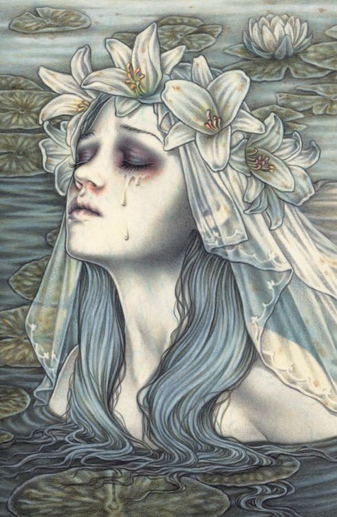 lanotteopera: Victoria Frances What if when mermaids cried it burned their skin leaving burned tear marks? With the hook in the cheek and burned tear stains it would be perfect for styling project.