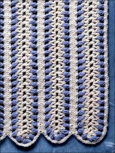 Free Blue Mile Afghan Crochet Pattern -- Download this free crochet afghan pattern