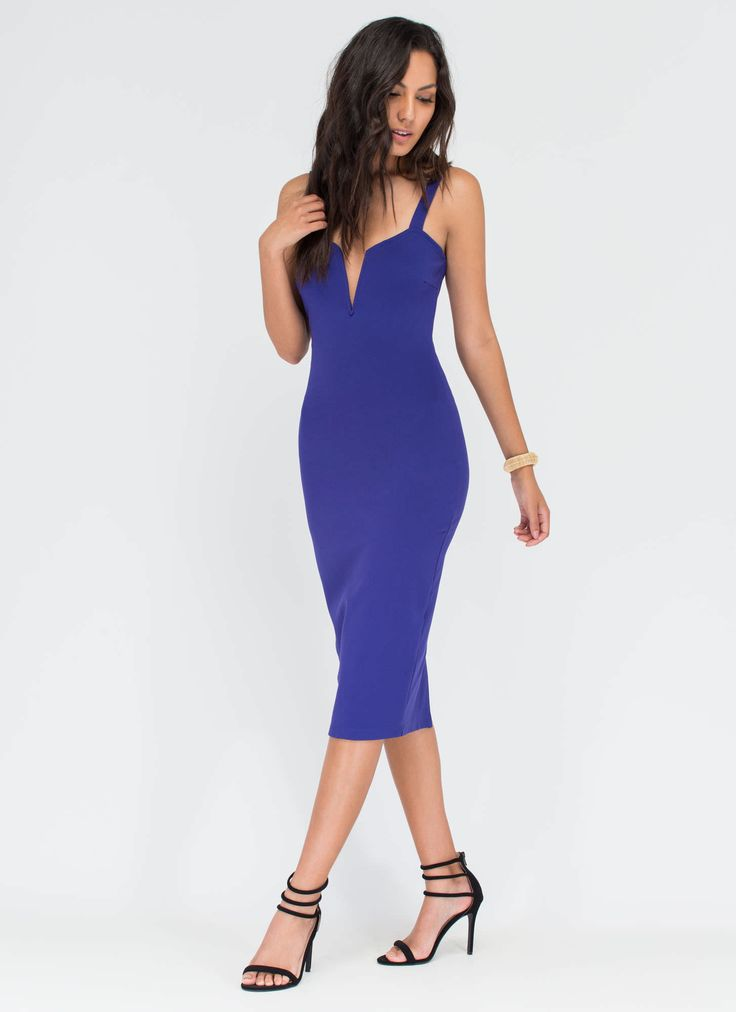 All Eyes On You Bodycon Midi Dress #bodycon #midi #dress #royal #gojane