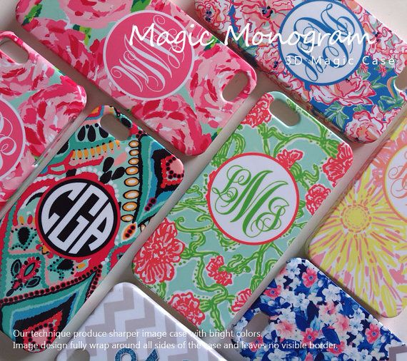 Lilly Pulitzer Phone Case inspired Monogram by magicmonogramm