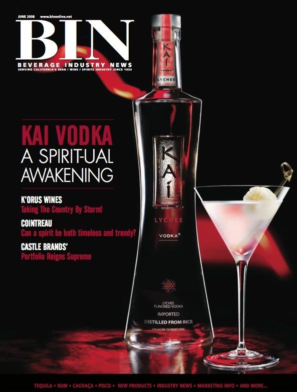 Kai Vodka on the cover of BIN Magazine 2008