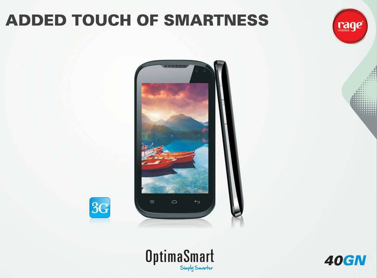 OPS 40GN is a touch away from Smartness!  #OptimaSmart #SmartPhone #RageMobiles   Explore More: http://goo.gl/v06CdX