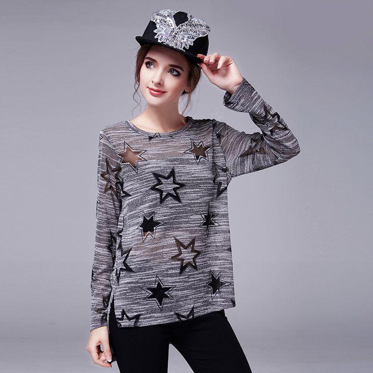 Дешевое Lanlan L 5XL трикотажные длинные рукава блузки женская верхняя одежда мода 2015 Blusas Большой размер Camisas Femininas дизайнер топ женщин блузки, Купить Качество Блузки и рубашки непосредственно из китайских фирмах-поставщиках:   [Xlmodel]-[Продукты]-[8888]   Наиболее популярные    Lanlan L-5XL плюс размер Blusa Ренда 2015 весна Новая мода  Топы