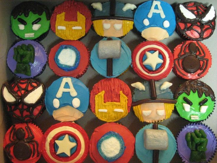 Avenger Cupcakes - Visit to grab an amazing super hero shirt now on sale!