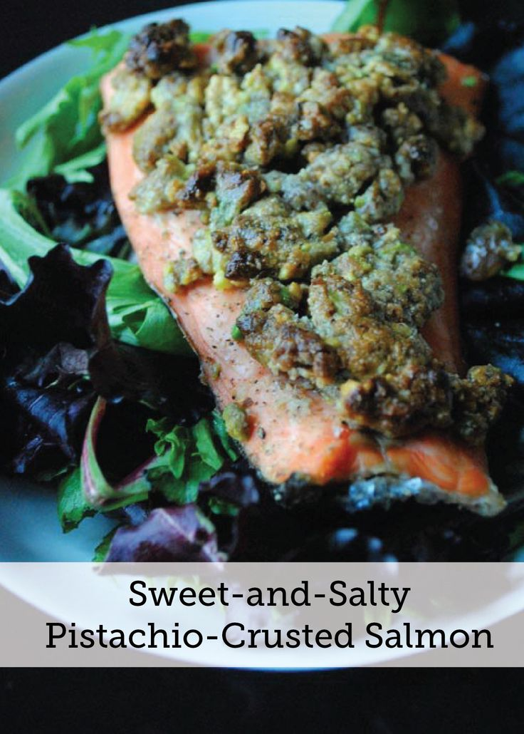 A recipe for runners sweet and salty pistachio crusted for Pistachio crusted fish
