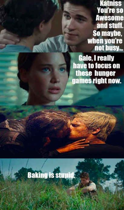 """This unfortunate situation Gale finds himself in:   17 Jokes Only """"Hunger Games"""" Fans Will Understand"""