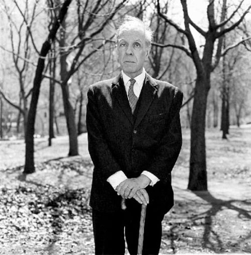 Jorge Luis Borges, 1969. Photo by Diane Arbus.