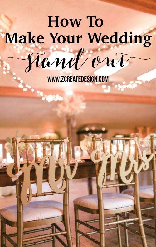 Great decor ideas to make your wedding one-of-a-kind!
