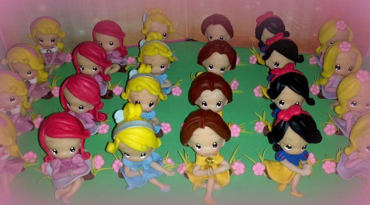 Princesas Disney en porcelana feria | Souvenirs Princesas Bebe ...
