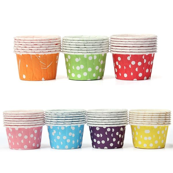 100 PCS Paper Cupcake Liner Muffin Paper Case Greaseproof Baking Cups