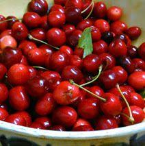 sweet cherries from my garden