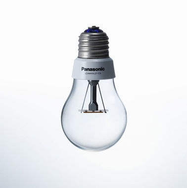 High-efficiency LED lightbulb disguised as an incandescent.