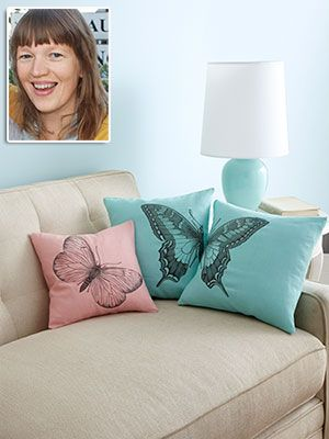 butterfly pillow... sounds really easy as long as i can find pillow covers