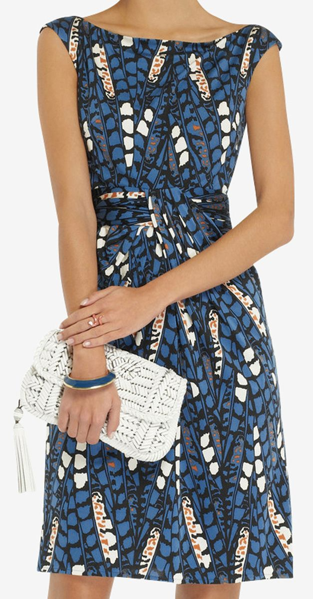 Blue pattern dress
