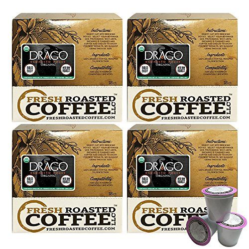 Organic Drago Artisan Blend Single-Serve Coffee Pods, 72 Capsules for Keurig K-Cup Brewers, Fresh Roasted Coffee LLC. (72 Count) >>> Read more info by clicking the link on the image. #fitnessforHealth