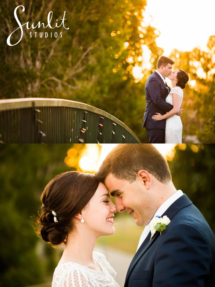 Noosa Waterfront Bridge - wedding lock ceremony by Sunlit Studios