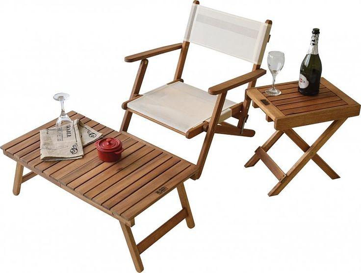 ルアール_ナチュラル 折りたたみローテーブル(屋外テーブル・パラソル ... 画像はコーディネートイメージです。