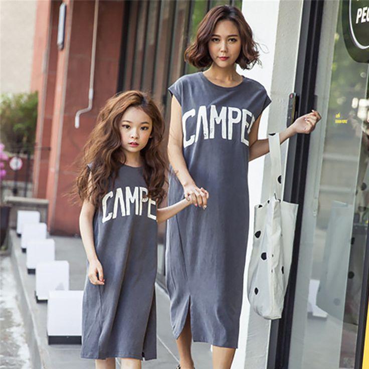 $9.98 (Buy here: https://alitems.com/g/1e8d114494ebda23ff8b16525dc3e8/?i=5&ulp=https%3A%2F%2Fwww.aliexpress.com%2Fitem%2F2017-New-Summer-Family-Matching-Outfits-Mother-Daughter-Causal-Dress-Kids-Clothes-Teenage-Girls-Short-Sleeve%2F32796897872.html ) 2017 New Summer Family Matching Outfits Mother Daughter Causal Dress Kids Clothes Teenage Girls Short Sleeve Letter Print Dress for just $9.98