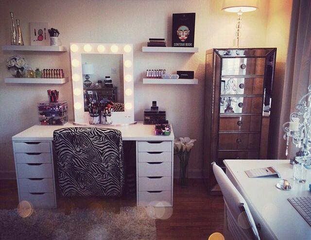 jaclyn hill 39 s makeup room home decor pinterest. Black Bedroom Furniture Sets. Home Design Ideas