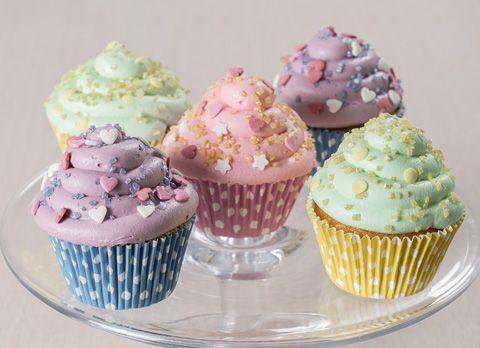 Cupcake colorati al pistacchio - PANEANGELI