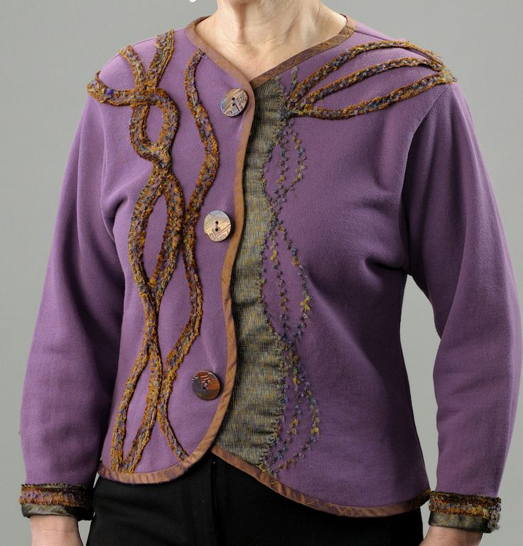 Click to buy @ $45...Chenille Bias Trimmed Woman's Sweatshirt Knit Jacket by LondasCreativeSewing on Etsy. https://www.etsy.com/listing/271977240/chenille-bias-trimmed-womans-sweatshirt