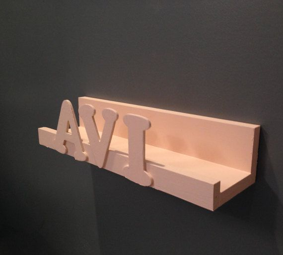 Personalized Floating Shelf by SparrowandScout on Etsy