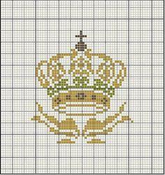 Cross stitch crown