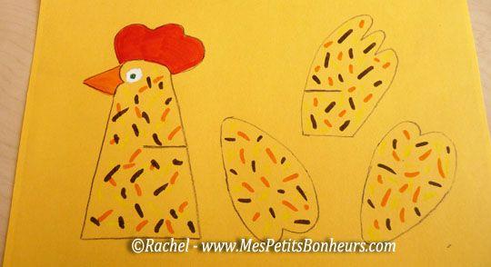 Poule de Pâques – Découpage à imprimer pour un bricolage facile et rigolo