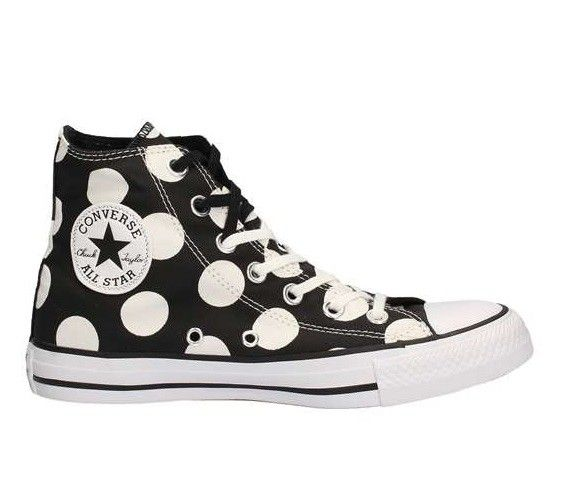 Sneaker Converse All Star 556814 ctas hi black white pois summer 2017