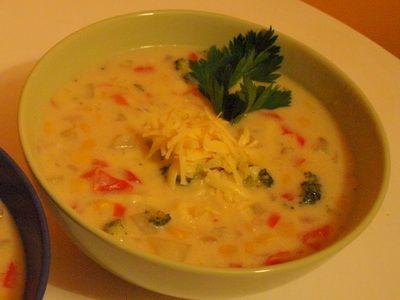 Zupa chowder z warzyw i kukurydzy   kuchnia wegetariańska - jesteś tym, co jesz! -