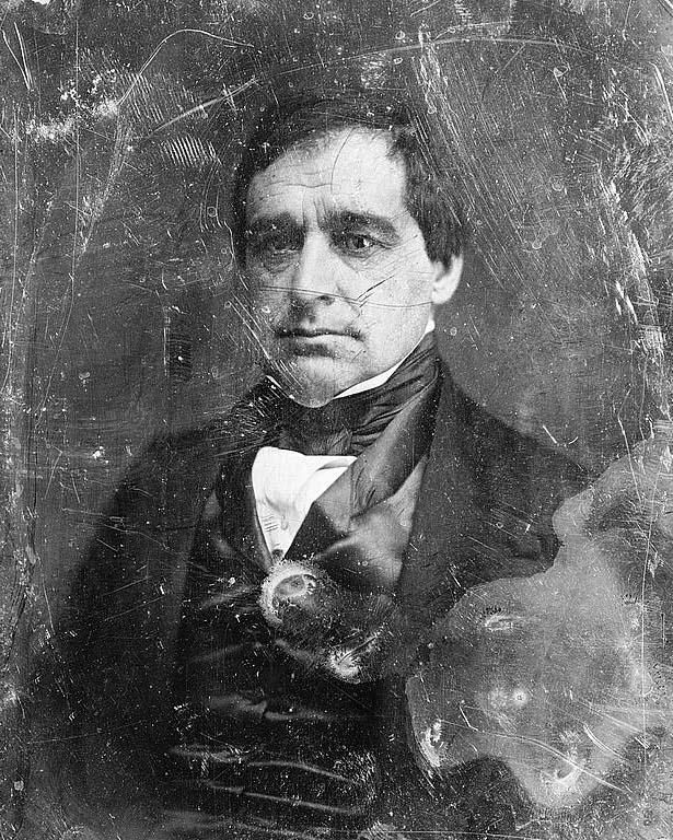 Hannibal Hamlin Here for your browsing pleasure is an extraordinary photo of Hannibal Hamlin, head-and-shoulders portrait, facing slightly to left. It was made in 1844.  The photo documents Democratic Congressman from Maine, 1843-1847; Senator, 1848-1857; Governor of Maine, 1857; Republican Senator from Maine, 1857-1861, 1869-1881; Vice President of U.S., 1861-1865.