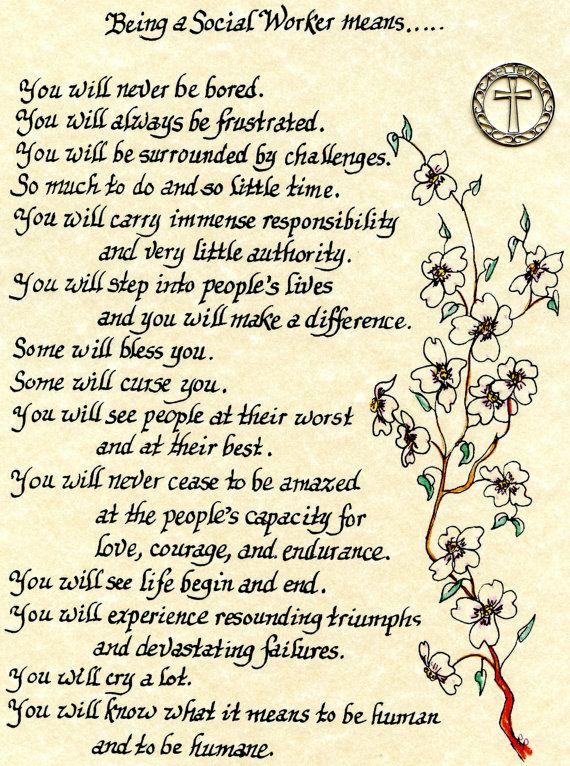 social worker retirement poem