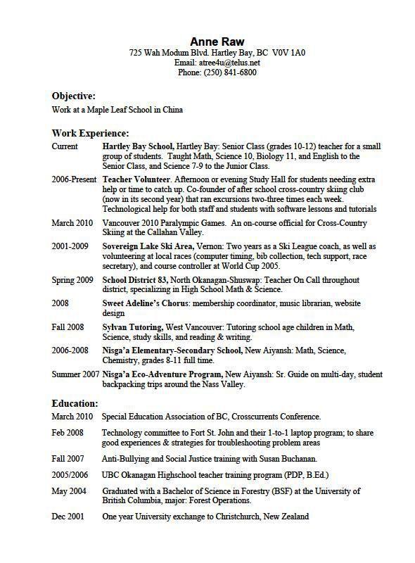 Hobbies 4-Resume Examples Free resume examples, Resume examples