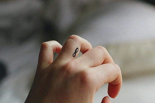 I'd get a small tattoo like this on my finger...