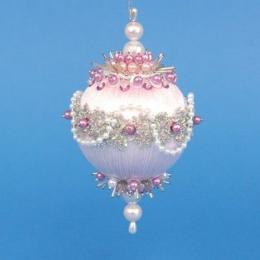 Mary Maxim - Baby Pink Collector Christmas Ornament - Beaded Kits & Ornaments - Crafts