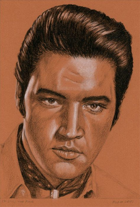 Browse Through Images In Rob De Vries Elvis Presley Collection Paintings And Drawings Of