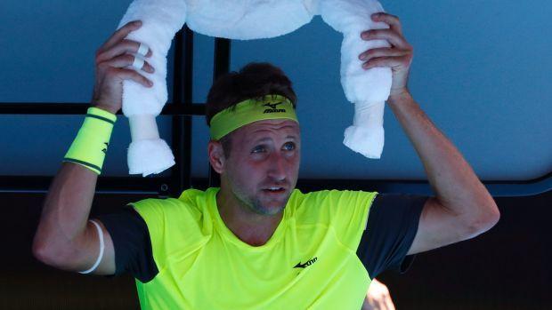 Australian Open surprise packet Tennys Sandgren has hit back at the media's interest in his political views.
