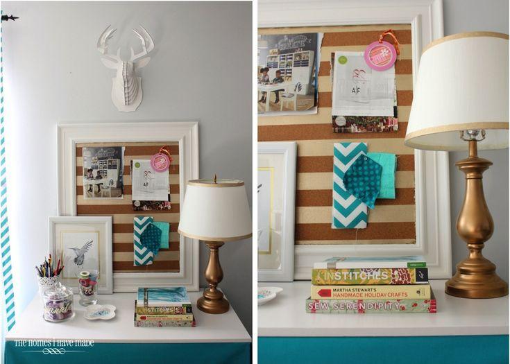 Make This: Gold-Striped Cork Board