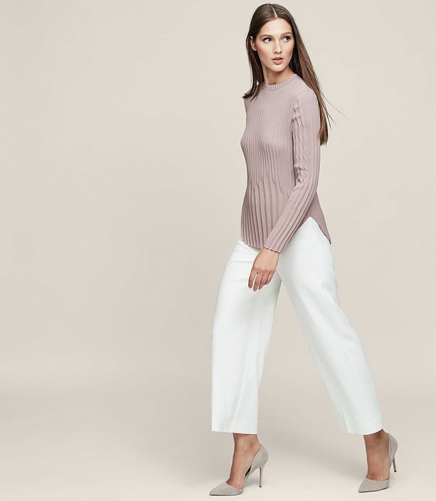 REISS - LINA PLEATED LONG-SLEEVED TOP