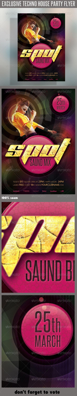 Techno House Flyer 04